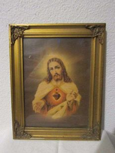 Sacred Heart of Jesus. Beginning 20th Century. Portuguese School.