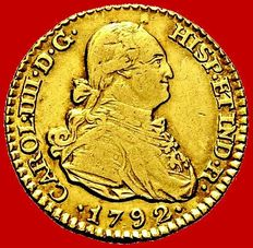 Spain – Carlos IV (1788-1808) – 1 escudo gold coin. Madrid, 1792.