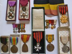 Large lot of highly decorated former combatant from WW1 & 2