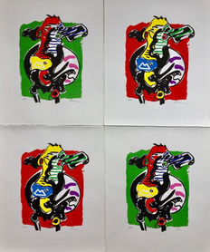 Peter Diem - Cow in red and cow in green