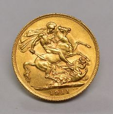 United Kingdom - Sovereign 1911 George V - gold