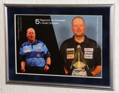 Raymond van Barneveld original autographed framed photo card + Certificate of Authenticity