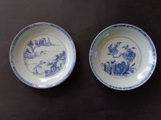 Two deep plates Qianlong period - China - 18th century