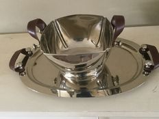 Silver plated design champagne bucket and serving tray by The house of Roses Royal EPNS Collection