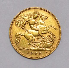 United Kingdom - ½ Sovereign 1909 Edward VII - gold