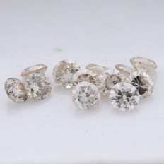 12 Round Brilliant Mix Color Diamonds – 0.37 ct. - *** NO RESERVE ***