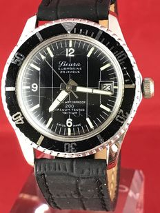 Sicura Diver by Breitling '200 Vacuum' – men's wristwatch – circa 1970