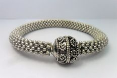 Adjustable vintage bracelet made of antique 925 silver