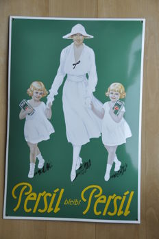 Enamel sign - PERSIL - limited edition from 1990