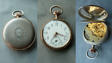 Antique men's pocket watch – 800 silver – jewel runs