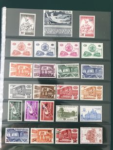Belgium 1938/1960 - Selection of railway stamps -  OPB TR202/372.