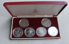 Russia/USSR – 6 x 1 roubles 1977–1980 XXII. Olympic Games 1980 in Moscow