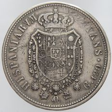 Kingdom of Two Sicilies - Piastra of 120 Grana 1818, Ferdinand I
