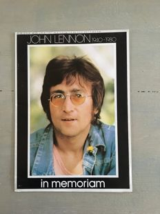 A1 size poster of John Lennon and Yoko Ono and 11 publications of/on John Lennon