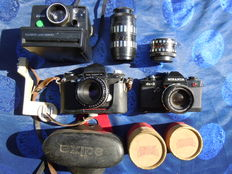Batch of 3 cameras: EDIXA Primat LTL-Miranda  DX3-Polaroid 2000-2 Lenses-1975