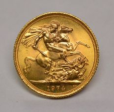 United Kingdom - Sovereign 1974 Elizabeth II - gold