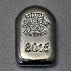 USA - YPS - 1 oz Slacker 2016 - Coffin Bar - Cast by Hand - Unique - Serial number