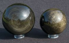 Gold Obsidian - 79,8mm - 634gm and 66,3mm - 358gm  (2)