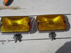 Two beautiful CIBIE fog lights TYPE IODE 35 from the 1970s and 1980s