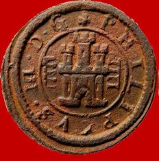 Spain - House of Austria: Felipe III (1598-1621), 8 maravedís (3.03 g. 20 mm) Segovia, 1617.