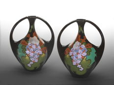 Pottery Regina Gouda - Set of Art Nouveau earthenware ornamental vases