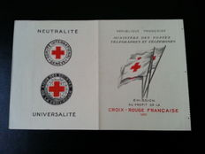 France 1955 / Red Cross booklet.