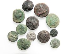 Greek Antiquity - Collection of various AR, AE - 12 coins