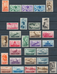 Italy - 1934/1935 collection Sassone 357/361 & 384/387