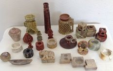 25 pieces of soapstone objects