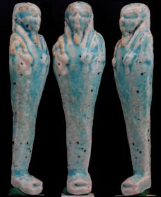 Ancient Egyptian blue faience Shabti - ca. 11,4 cm - c. 4,49 inches