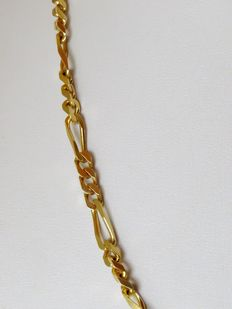 French gold plated link necklace