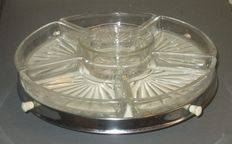 Vintage revolving hors d'oeuvres dish - Lazy Susan