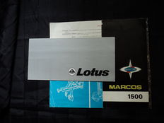 2 original Marcos and Lotus brochures - 1960's - 70's