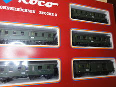 Roco H0 - 04062S - Carriage set with Donnerbüchsen of the DRG