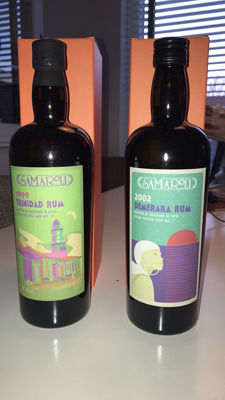2 x Samaroli Single Cask Rum from Trinidad and British Guyana