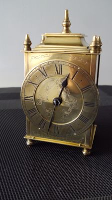Luxurious brass table clock - Buren - Switzerland around 1930