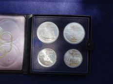 Canada - 5 and 10 Dollars 1973 'XXI Olympic Games 1976 Montreal' (set of 4 coins) - Silver