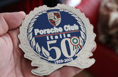 PORSCHE CLUB ITALIA 50 YEARS JUBILEE BADGE 1959 - 2009