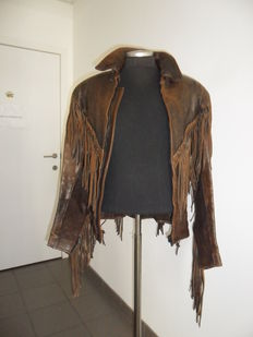 Western leather jacket for men - men size 50