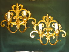 Pair golden lights Genovesi 40 'Italy
