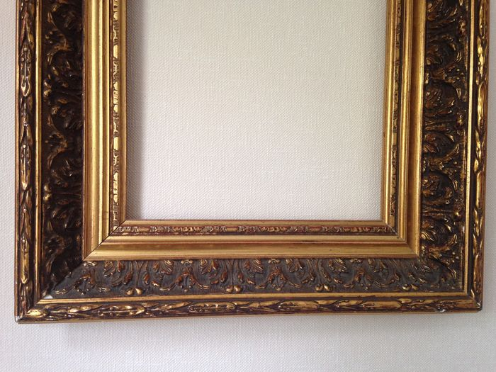 Two Old Special Frames Plaster On Wood 20th Century Catawiki