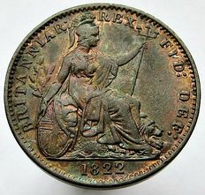 United Kingdom - Farthing 1822 George IV