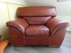 Large leather Italian chair, Italy, 1990s