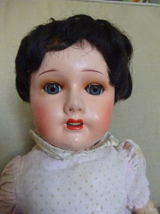 Vintage doll with composition head 45 cm