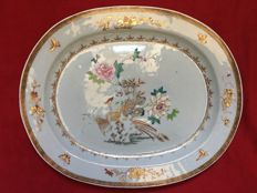 A famille rose charger decorated with peacocks - China - Qianlong period (1736-1795)