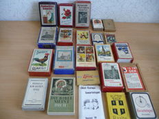 Lot of 23 antique and old Dutch Quartet games.