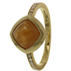 "Saddal - ""Dolce"" gold women's ring with Mandarin and diamond - Ring size 17.75"
