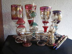 The art of Egyptian glassware; a collection of 14 miniatures made in blown glass.