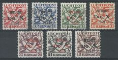 Suriname 1931 - Air mail with DOX overprint - NVPH LP8/LP14