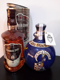 2 bottles - The Black Prince & Robbie Dhu 12 years